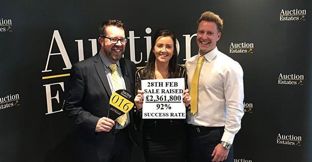 Confidence returns as Auction Estates Feb sale hits 92% (£2,361,800 raised) news item