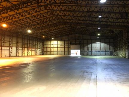 Two former aircraft hangers sold at auction news item