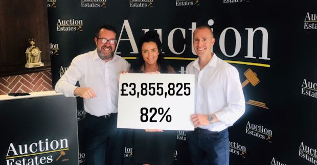 13th August auction raises £3,855,825 with an 82% success rate. news item